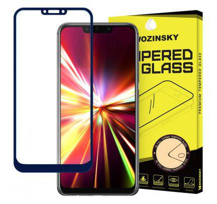 Tempered Glass Full Glue Super Tough Full Coveraged with Frame Case Friendly for Huawei Mate 20 Lite blue