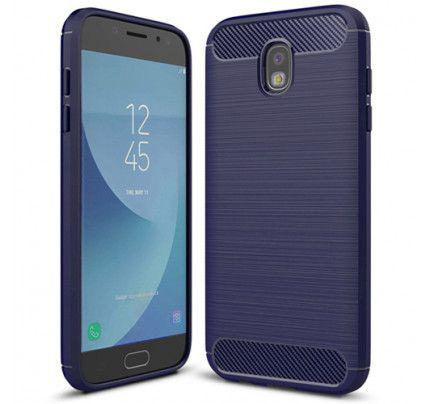 Θήκη OEM Brushed Carbon Flexible Cover TPU Case for Samsung Galaxy J5 2017 J530 μπλε χρώματος