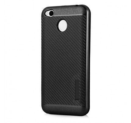 Θήκη OEM Carbon Slim Armor Hybrid Case Rugged Cover Xiaomi Redmi 4X μαύρου χρώματος
