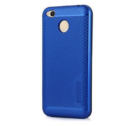 Θήκη OEM Carbon Slim Armor Hybrid Case Rugged Cover Xiaomi Redmi 4X μπλε χρώματος