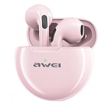 Awei T17 Mini Earbud Heavy Bass Bluetooth Handsfree ροζ χρώματος