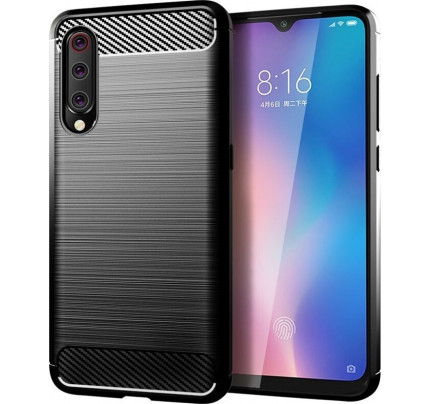 Θήκη Carbon Case Flexible Cover TPU for Xiaomi Mi 9 Lite black