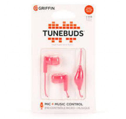Griffin Tunebuds Earphones with microphone σε ροζ χρώμα
