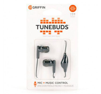 Griffin Tunebuds Earphones with microphone σε μαύρο χρώμα