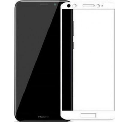 Φιλμ Προστασίας Οθόνης Tempered Glass (άθραυστο ) 9H για Huawei Honor 9 Lite full face white