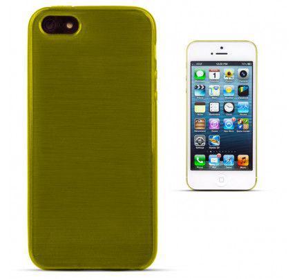 Θήκη Jelly Brush TPU για iPhone 5/ 5s /SE πράσινου χρώματος