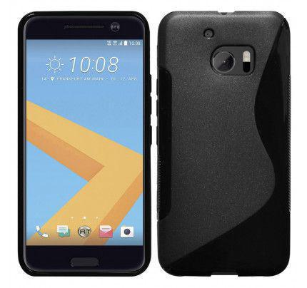 Θήκη TPU S-Line για HTC 10 μαύρου χρώματος