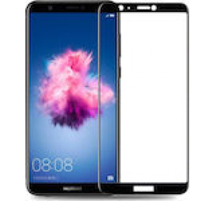 Tempered Glass Screen Protector Πλήρους Κάλυψης για Huawei P Smart black