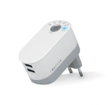 Φορτιστής ταξιδίου Forever 2xUSB με χρονοδιακόπτη ( GSM016482 )