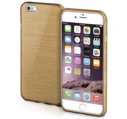 Θήκη Jelly Brush TPU για iPhone 6 / 6s χρυσού χρώματος