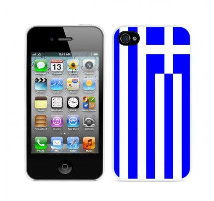 Θήκη για Apple iPhone 4 / 4S TPU Gel Greek Flag by Warp