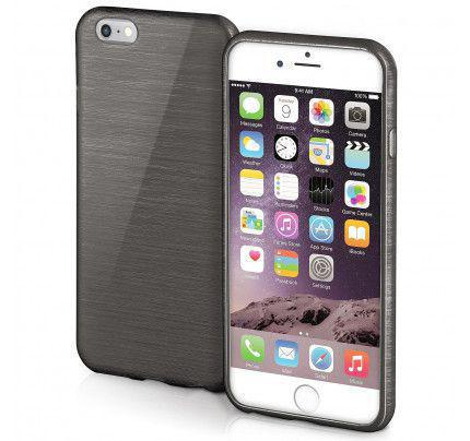 Θήκη Jelly Brush TPU για iPhone 6 / 6s μαύρου χρώματος