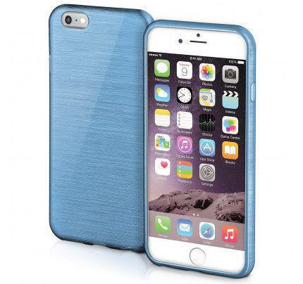 Θήκη Jelly Brush TPU για iPhone 6 / 6s μπλε χρώματος