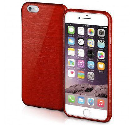 Θήκη Jelly Brush TPU για iPhone 6 / 6s κόκκινου χρώματος