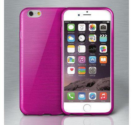 Θήκη Jelly Brush TPU για iPhone 6 / 6s μωβ χρώματος
