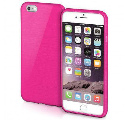 Θήκη Jelly Brush TPU για iPhone 6 / 6s ροζ χρώματος