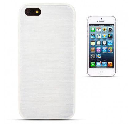 Θήκη Jelly Brush TPU για iPhone 5/ 5s /SE λευκού χρώματος