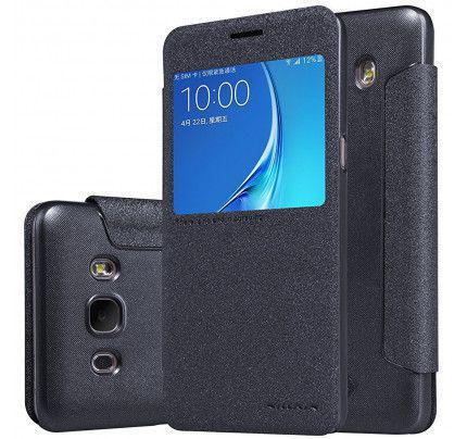 Θήκη Nillkin Sparkle Folio S View για Samsung Galaxy J3 2016 J320 μαύρου χρώματος