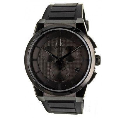 Calvin Klein Dart Black Rubber Strap Chronograph K2S374D1