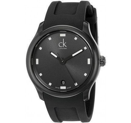 Calvin Klein Visible Black Rubber Strap K2V214D1