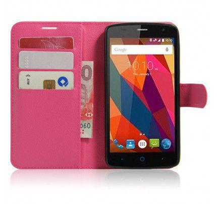 Θήκη OEM Sonata Book για ZTE Blade L5 ( stand ,θήκες για κάρτες,χρήματα) ροζ χρώματος