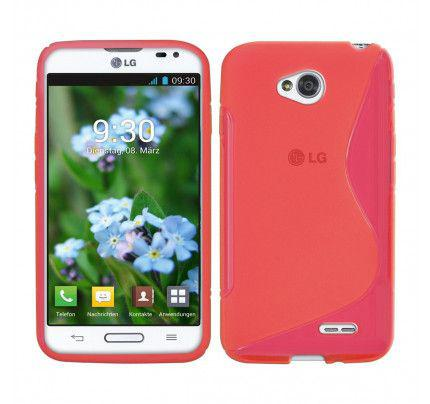 Θήκη TPU S-Line για LG L70/L65 D320 / D325 κόκκινη