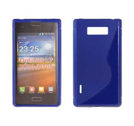 Θήκη TPU S-Line για LG Optimus L7 P700 / P705 blue