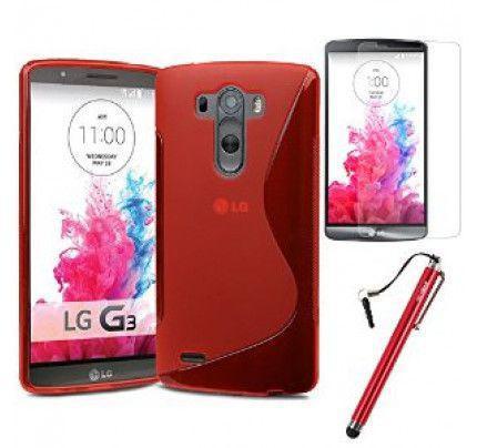 Θήκη TPU S line για LG G3 D855 Red