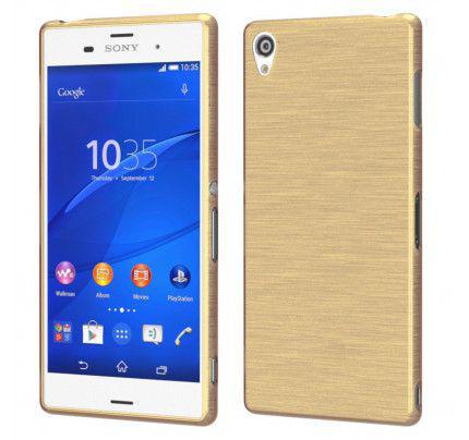 Θήκη Jelly Brush TPU για Sony Xperia M5 χρυσού χρώματος