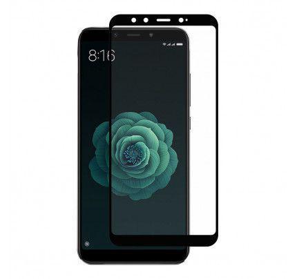 Tempered Glass (άθραυστο ) full face 9H για Xiaomi Mi A2 / Mi 6X πλήρους κάλυψης μαύρου χρώματος