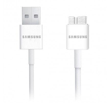 Samsung MicroUsb 3.0 Data Cable White Galaxy Note 3 ET-DQ11Y0WE Original χωρίς συσκευασία