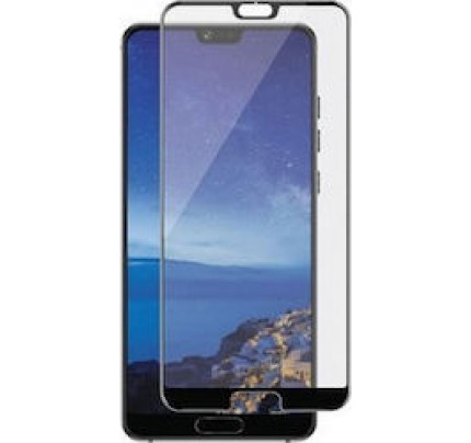 Tempered Glass Screen Protector Πλήρους Κάλυψης για Huawei P20 Pro black ( glue on all glass )