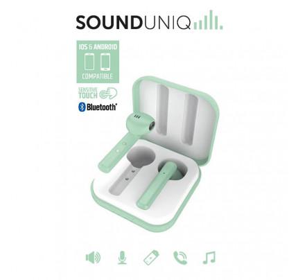 Ασύρματα ακουστικά LEDWOOD + Θήκη φόρτισης LD-M1011-TWS πράσινο (3700789508069)