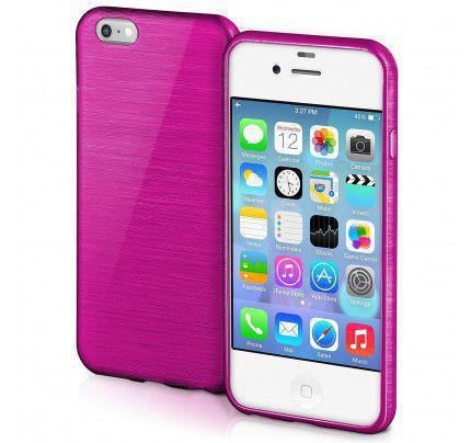 Θήκη Jelly Brush TPU για iPhone 4 / 4s μωβ χρώματος