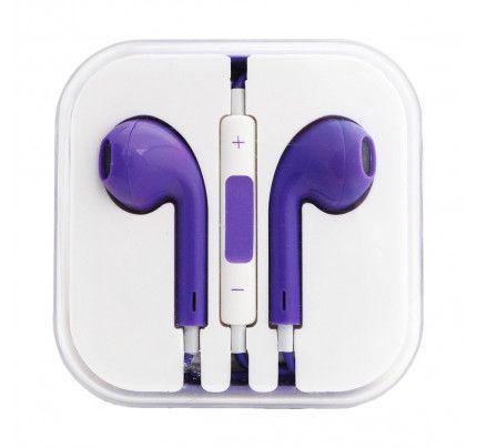 Handsfree Stereo συμβατά με iPhone 3G/3Gs/4G/5G/5S/6/6s BOX purple