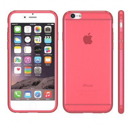 Θήκη TPU Ultra Slim για iPhone 6 / 6s διάφανη κόκκινη