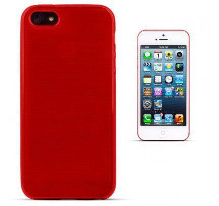 Θήκη Jelly Brush TPU για iPhone 5/ 5s /SE κόκκινου χρώματος