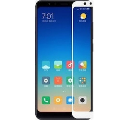 Tempered Glass Screen Protector Πλήρους Κάλυψης για Xiaomi Redmi 5 white ( glue on all glass )
