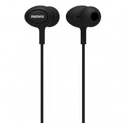 Ακουστικά Remax RM-515 3,5mm με μικρόφωνο μαύρου χρώματος
