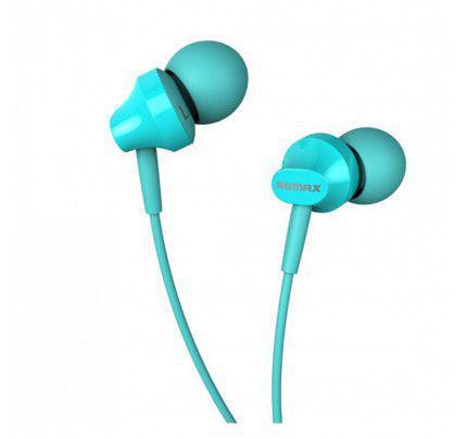 Ακουστικά Stereo Remax RM-501 3,5mm για όλα τα smartphones μπλε χρώματος