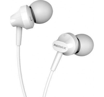 Ακουστικά Stereo Remax RM-501 3,5mm για όλα τα smartphones λευκού χρώματος