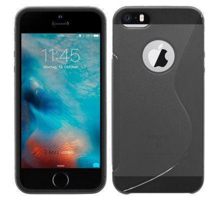 Θήκη TPU S-Line για iPhone 5/ 5s / SE σκούρα διάφανη