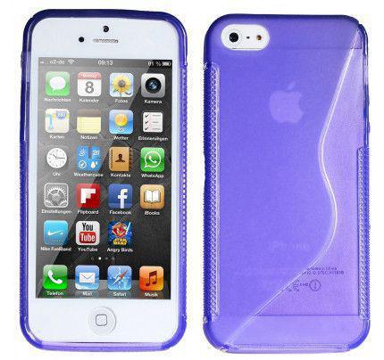 Θήκη TPU S-Line για iPhone 5/ 5s / SE μωβ χρώματος