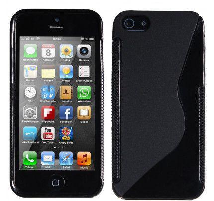 Θήκη TPU S-Line για iPhone 5/ 5s / SE μαύρου χρώματος