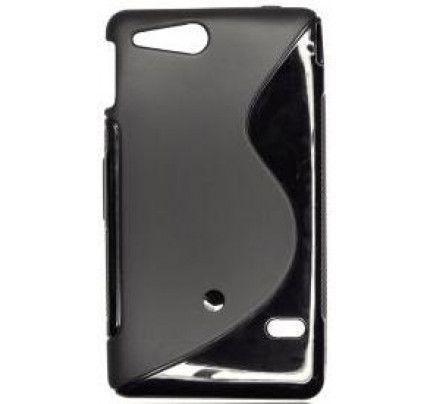 Θήκη Σιλικόνης για Sony Xperia Go ST27i black