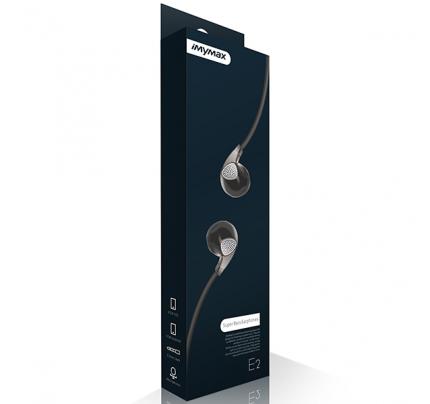 IMYMAX Headset E2 για Smartphones μαύρου χρώματος