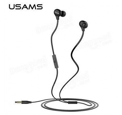 USAMS Ewave Series Stereo Colorful Doug Earphones black