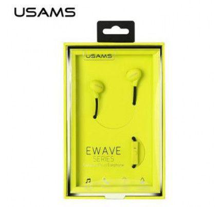 USAMS Ewave Series Stereo Colorful Doug Earphones  -  NEON GREEN
