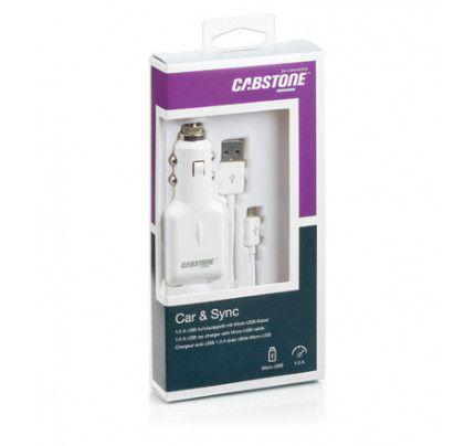 Φορτιστής αυτοκινήτου και καλώδιο συγχρονισμού Cabstone 1.0 A  Micro Usb συσκευές (62933)