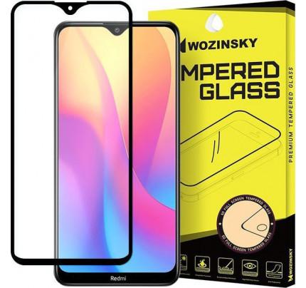 Wozinsky Tempered Glass Full Glue Super Tough  Full Coveraged with Frame Case Friendly for Xiaomi Redmi 8A black